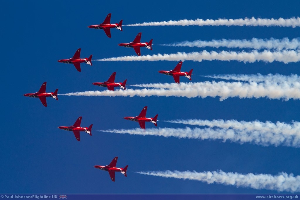 RAF Red Arrows - Image © Paul Johnson/Flightline UK