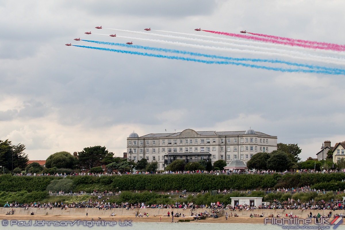 NEWS: Red Arrows and Battle of Britain Memorial Flight fly in support of Clacton 150