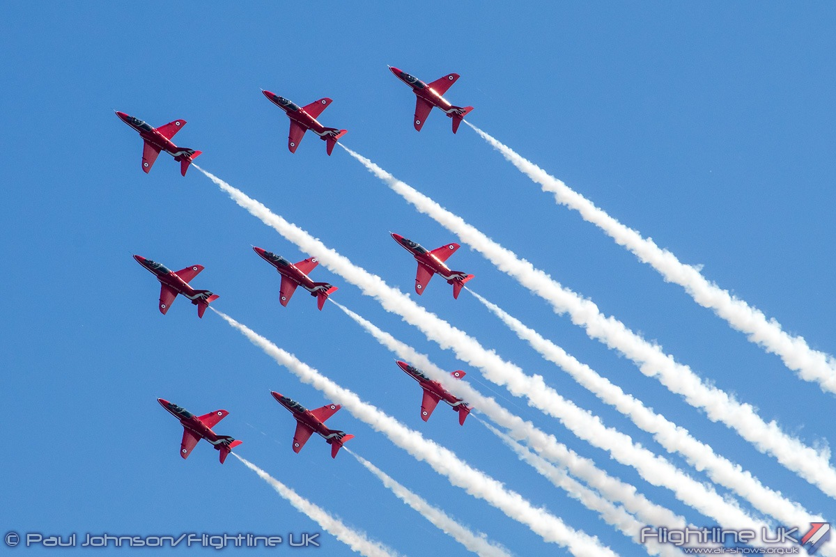 NEWS: Red Arrows to Fly Triple Bill at Airbourne in 100th Year of RAF